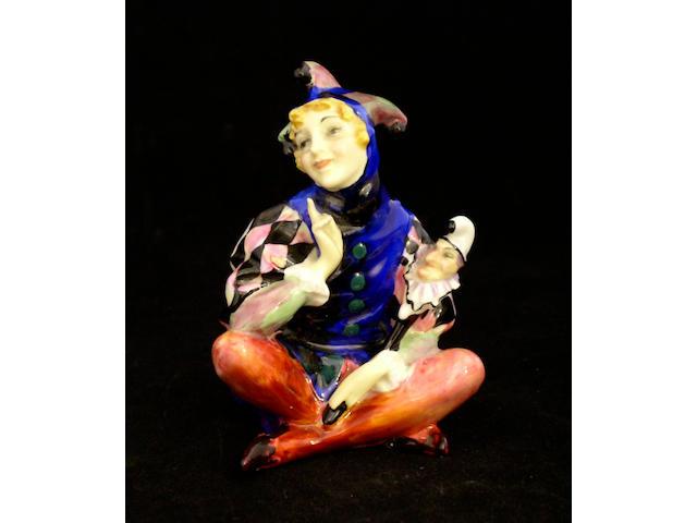 Figurines A Royal Doulton figure Lady Jester,