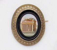 A Victorian micro-mosaic brooch,