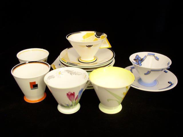 Six Shelley tea trios