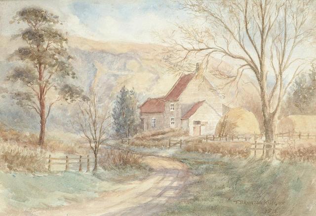 T. Brunton Knight A farm house, 24 x 34 cm (9 1/2 x 13 3/8 in)