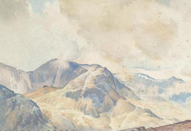 Edward Jeffrey (British, b.1898) October Cloud, Fairfield, 19 x 27 cm (7 1/2 x 10 5/8 in)