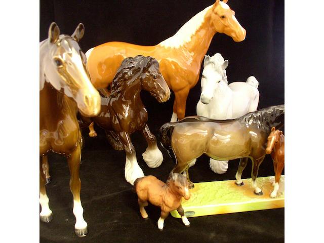 Beswick Animals Six Beswick horse figures