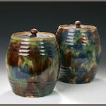 A pair of Seaton Pottery (Aberdeen) Storage Jars,