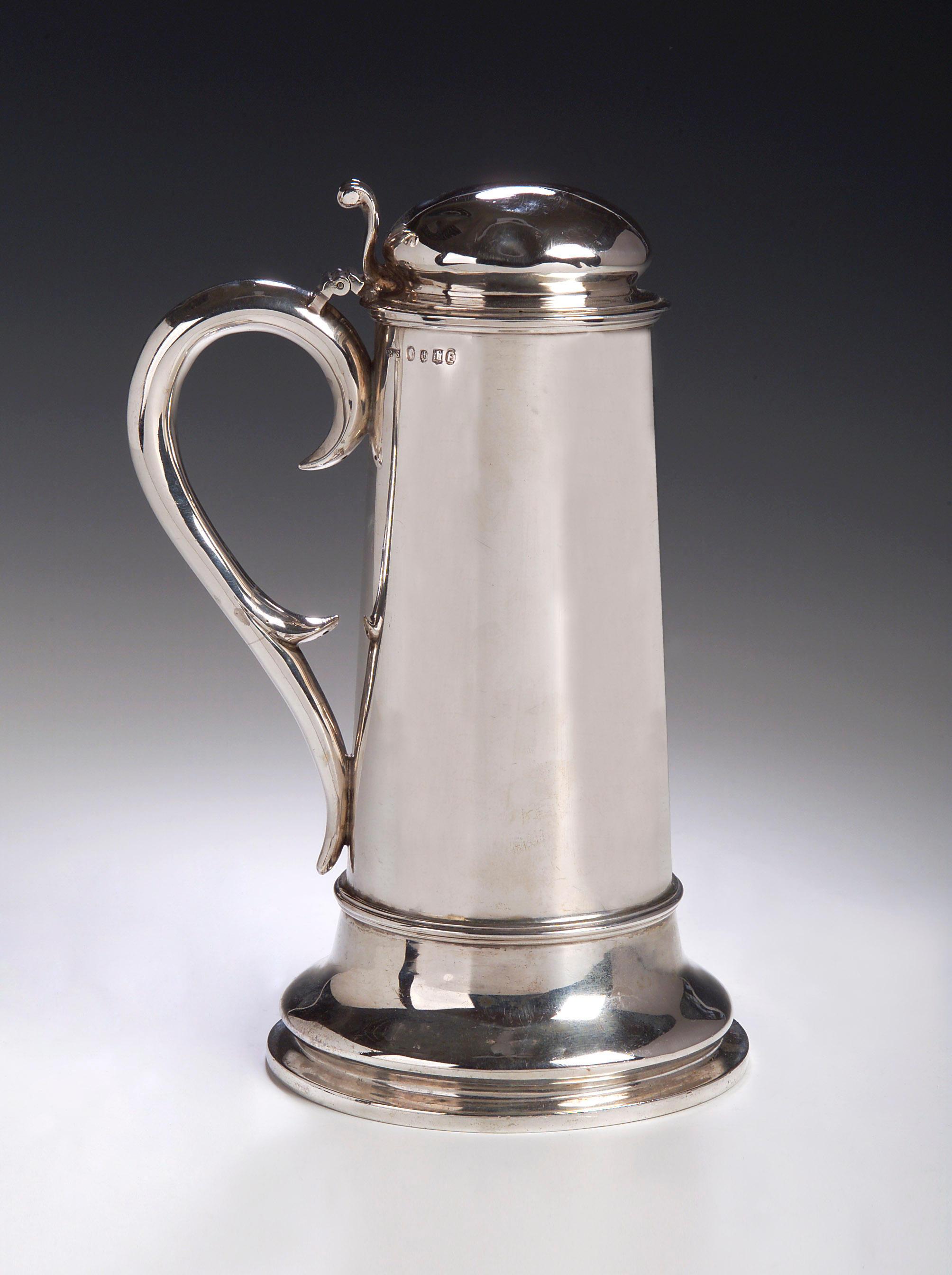 A Victorian silver Flagon,