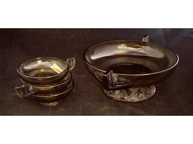 A Daum glass punch set