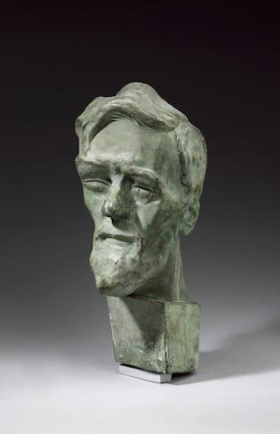 LAWRENCE, DAVID HERBERT (1885-1930, novelist and poet) PORTRAIT BY SAVA BOTZARIS (1894-1965),<br/>