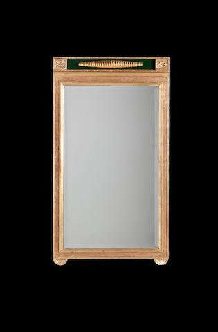 An early 20th century gilt composition mirror