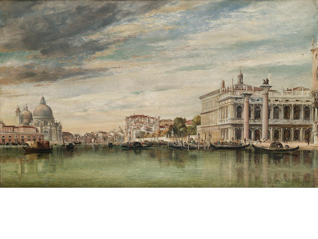 Edward William Cooke, RA (British 1811-1880) The Grand Canal, Venice 28 x 45.5 cm. (11 x 17 3/4 in.)