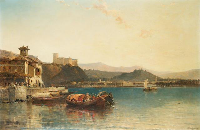 Arthur Joseph Meadows (British 1843-1907) Arone, Lake Maggiore 63.5 x 96 cm. (24 3/4 x 37 3/4 in.)