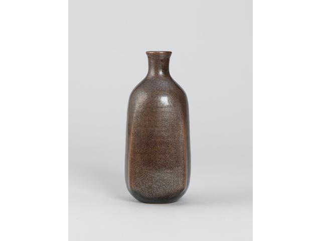 Kiyomizu Rokubei a squared Vase Height 9in. (23cm)