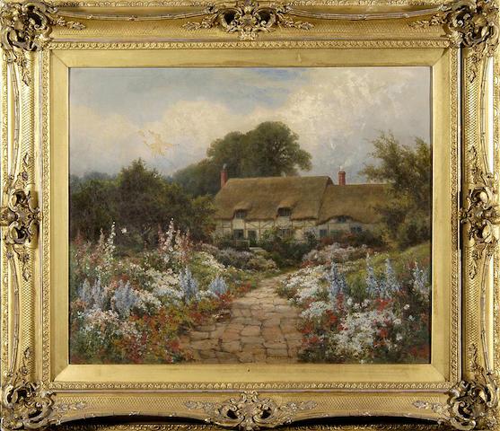 """G. B. Wilson (19th Century) """"Anne Hathaway's Cottage, Stratford on Avon"""" 45 x 56cm (17¾ x 22in)."""