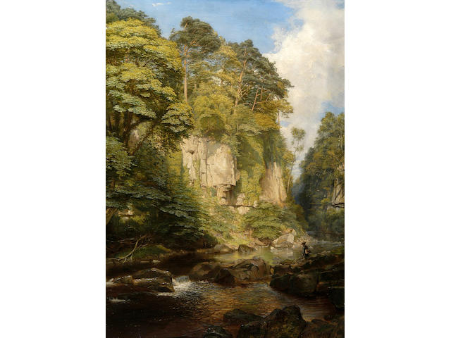 "James Trout Walton (1818-1867) ""The Greta at Rokeby"" 88 x 62cm (34½ x 24½in)."