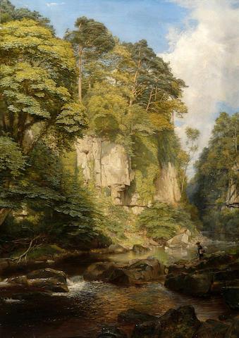 "James Trout Walton (1818-1867) ""The Greta at Rokeby"" 88 x 62cm (34½ x 24½in)."