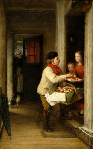 "Frederick Daniel Hardy (1826-1911) ""Hot cross buns"" 61 x 38cm (24 x 15in)."