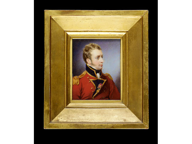 William Egley (British, 1798-1870), after John Cox Dillman Engleheart, The Hon. Sir Hercules Robert Pakenham (1781-1850), wearing scarlet jacket with dark blue facings and gold epaulettes of the Coldstream Guards, a medal pinned to his lapel
