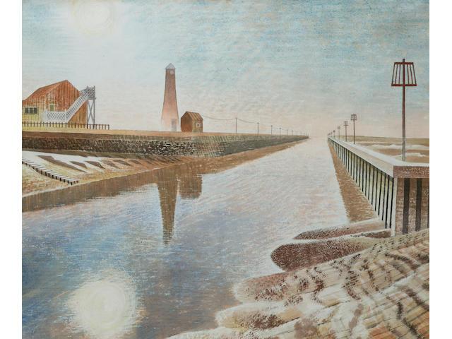 Eric William Ravilious (1903-1942) Rye Harbour 42.3 x 51 cm. (16 5/8 x 20 in.)