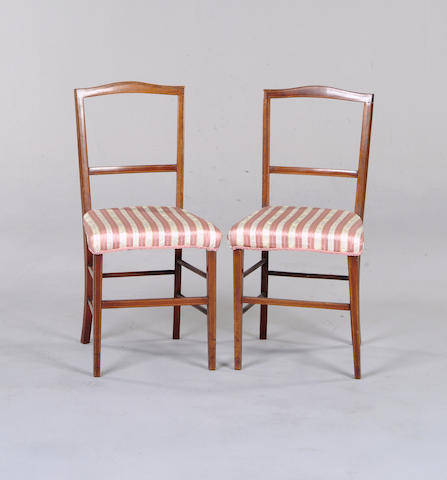 A pair of Edwardian bedroom chairs