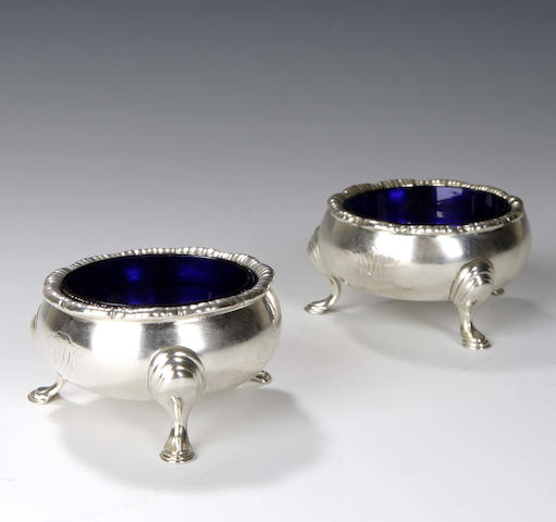 A pair of George II Salts, by Robert Gordon, assay master of Hugh Gordon, Edinburgh, 1757,