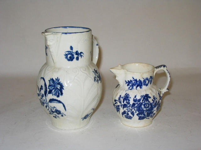 A small Worcester mask jug