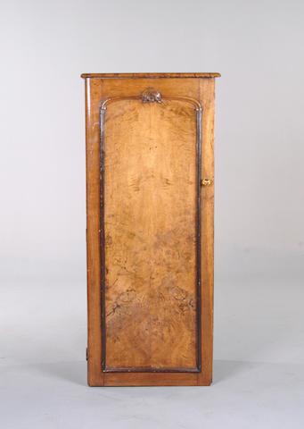 A Victorian oak small cupboard