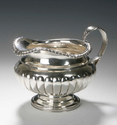 A George III Cream Jug,  by John Mackay, Edinburgh 1818,