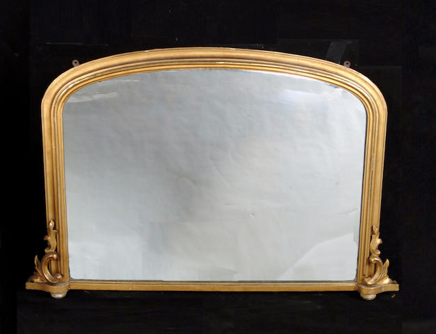 A 19th century gilt composition overmantel mirror