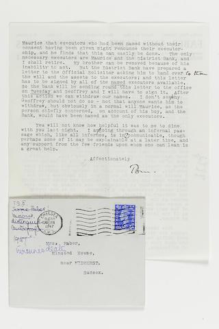 Letters TSElliott to E Faber 2 volumes