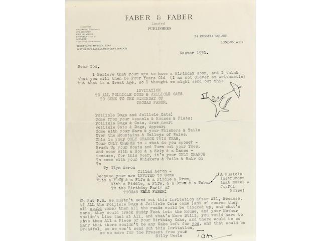 Letters TSElliott to TEFaber