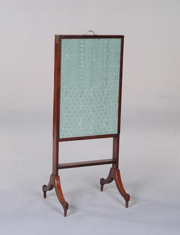 A George III magohany framed firescreen