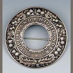 A silver Plaid Brooch of the Sutherland Highlanders,