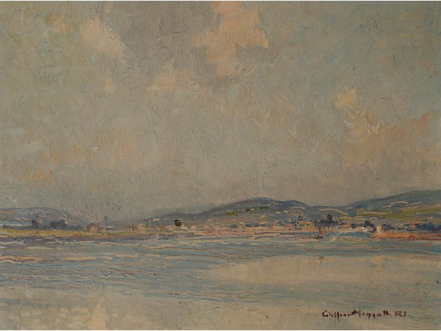 William Hoggatt (1880 - 1961) 'Isle of Man, Langness', 33 x 43cm.