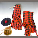 A Kilt, Plaid, Bonnet and Sporran of the McGregors