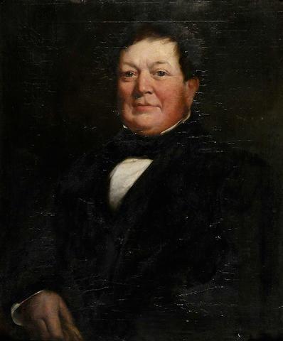 James Edgell Collins, R.A. (b.1820) A portrait of a gentleman, Robert Barnes 76.5 x 64cm (30 x 25in).