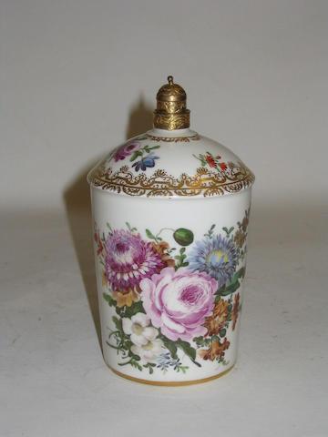 A Dresden scent bottle