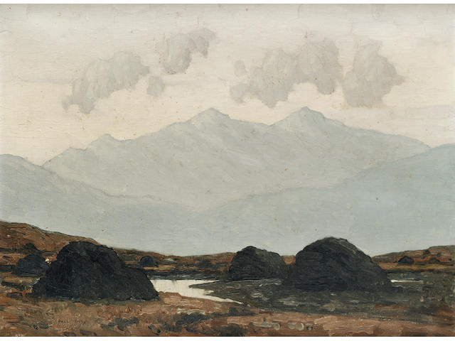 Paul Henry, R.H.A., R.U.A. (1876-1958) In the Wicklow Mountains 29.8 x 40.6 cm. (11 3/4 x 16 in.)