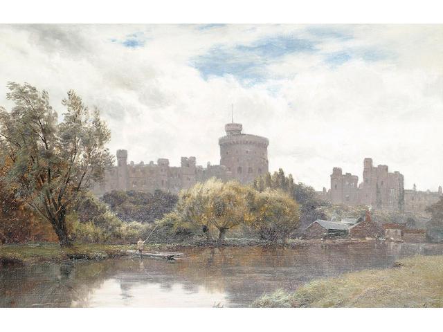 Alfred de Breanski Snr (British, 1852-1928) Windsor Castle from the Thames, 30.5 x 46.7 cm (12 x 18 3/8 in)
