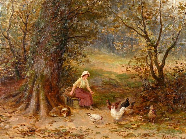 Frederick James Knowles (b.1874) The farmer's daughter 38 x 51cm (15 x 20in).