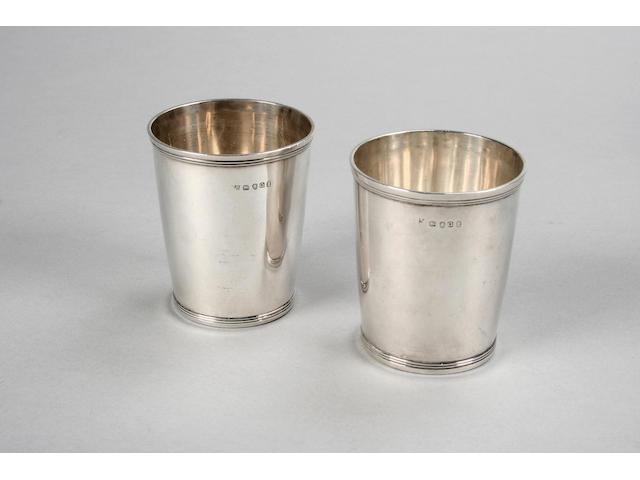A pair of George III beakers, by Peter & William Bateman, London 1811,