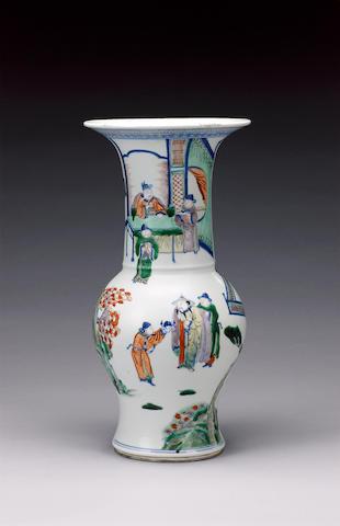 A famille verte yen yen vase Kangxi