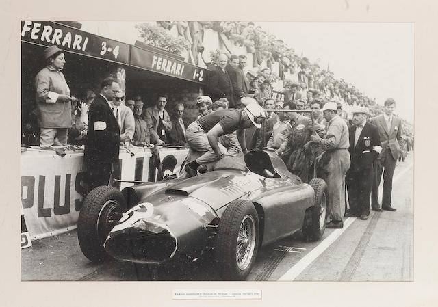 Eugenio Castellotti on the Lancia Ferrari D50, British Grand Prix-Silverstone, 1956,