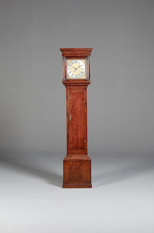 A late 18th century oak cased thirty hour longcase clock  Reuben Cornforth, Stockton