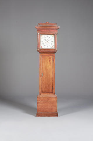 A late 18th century oak longcase clock Thomas Wraight (sic) Charing