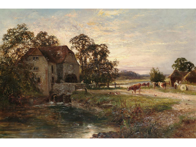 Walter Wallor Caffyn (British, 1845-1898) The Old Mill, Fittleworth Susses, 39.5 x 60 cm (15 1/2 x 2