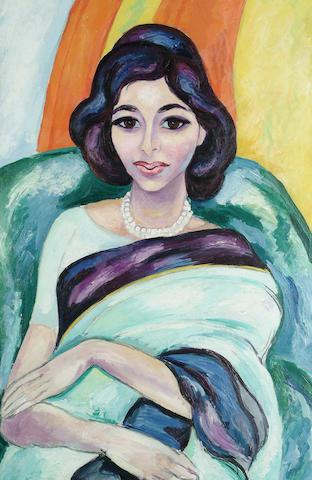 Edward Wolfe (British, 1897-1981) Lady in a Sari 76 x 50cm (30 x 19 3/4in)