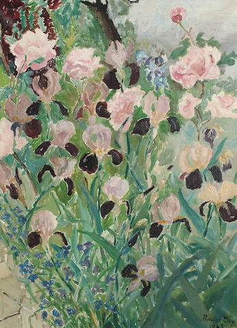 Rachel Clay (British, 20th Century) Irises 60 x 46cm (23 1/2 x 18in)