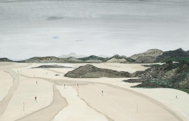 Fred Uhlman (British, 1901-1985) Porthmeirion Bay 61 x 92cm (24 x 36in)