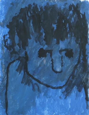 Josef Herman (British, 1911-1999) Blue Head 25 x 19cm (10 x 7 1/2in)