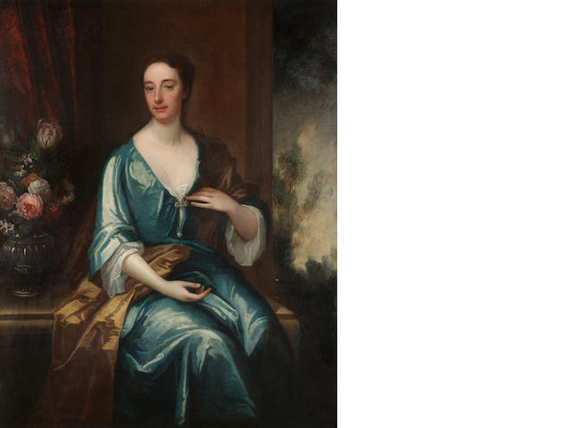 Circle of John Verelst Portrait of a lady, said to be Baroness Cutts, 101 x 127 cm. (39¾ x 50 in.)