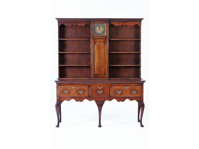 A reproduction oak dresser,