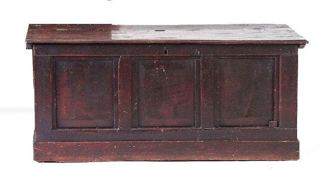 An early 18th Century oak coffer,